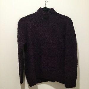 Ann Taylor Loft Mockneck Boucle Sweater